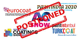 Paintistanbul / Turkcoat and Paintindia postponed